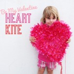 DIY craft heart kite valentine