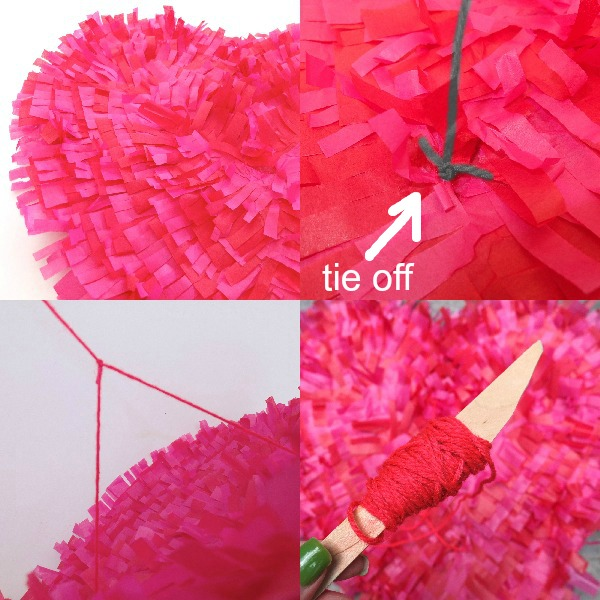 pink and red kite heart DIY