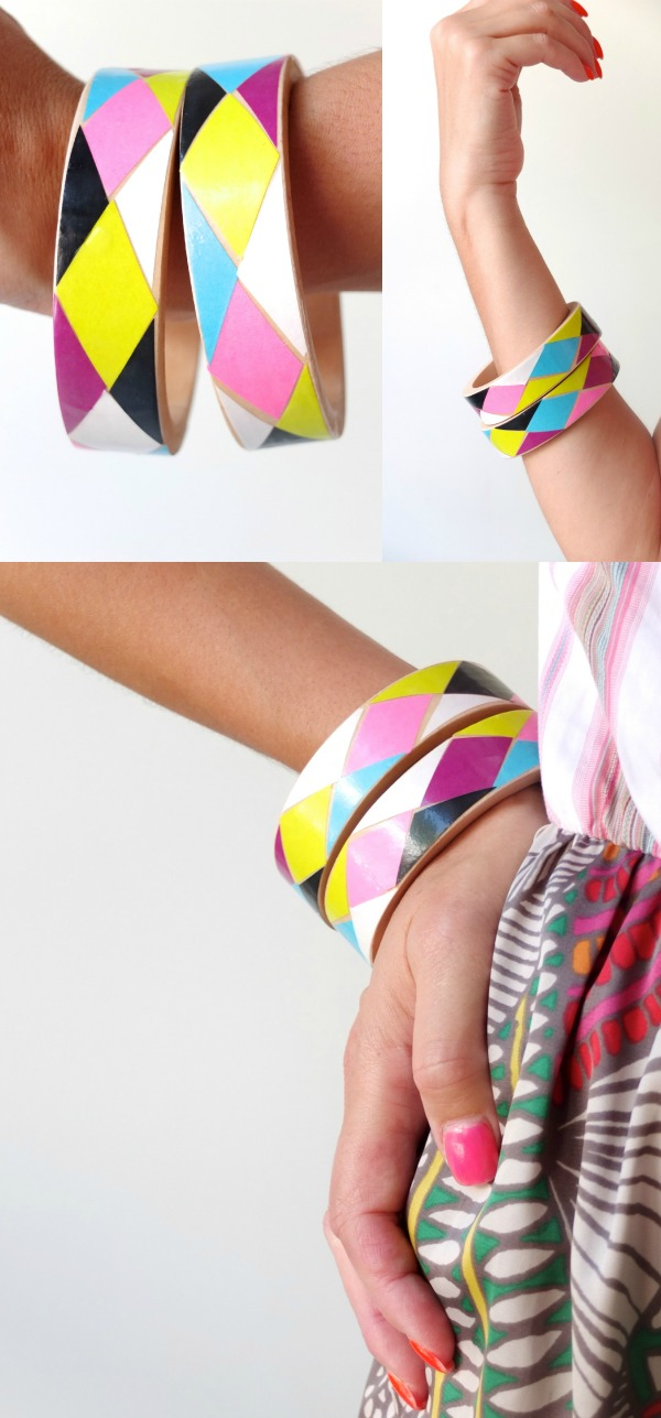Bangle DIY My Poppet Harlequin Design