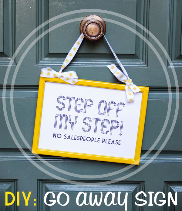 DIY: Do Not Knock No Salespeople Sign Printable