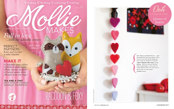 Mollie makes felt hearts