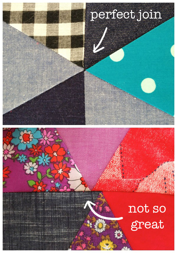 Sewing instructions triangle quilt
