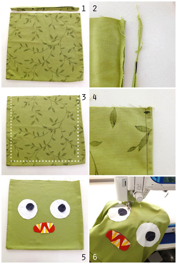 upcycle pillow cover to bag