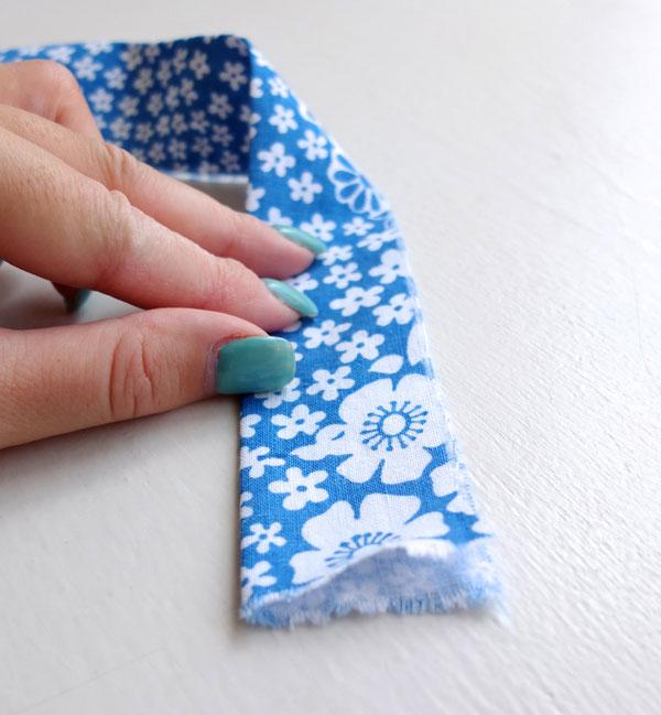 Double fold straight cut binding
