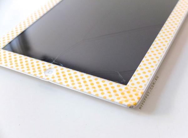 iPad polkadot makover mypoppet.com.au
