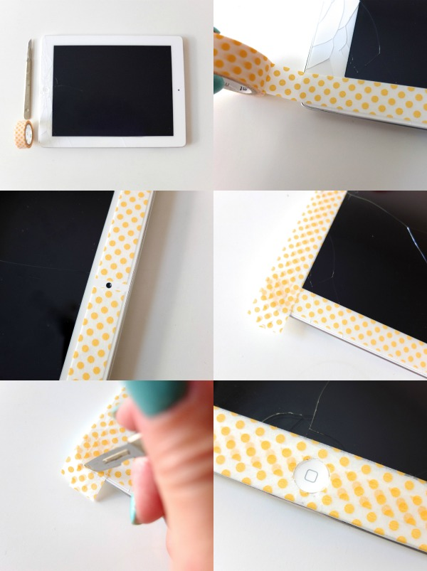 Make over your ipad with some washi tape, Ideal if you crack the glass