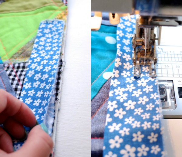 sew binding on quilt