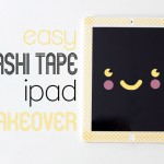 Easy washi tape iPad makeover mypoppet.com.au
