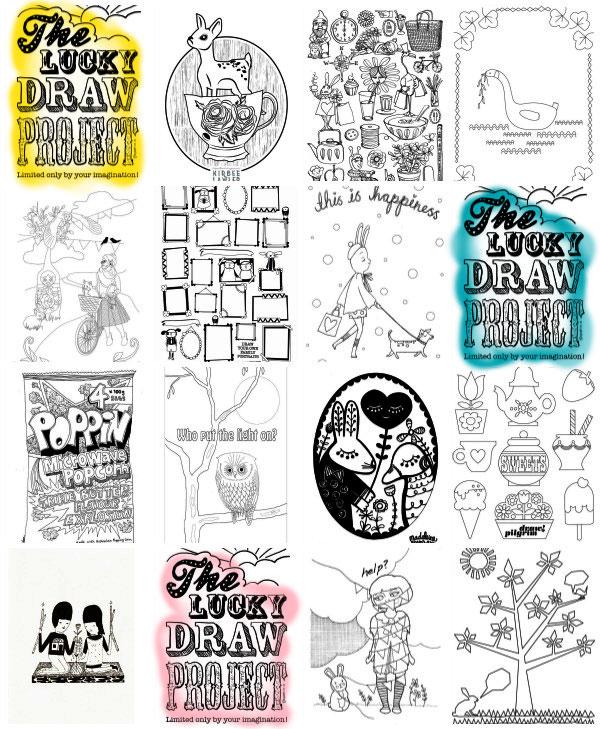 The Lucky Draw Project sneak peek illustrations