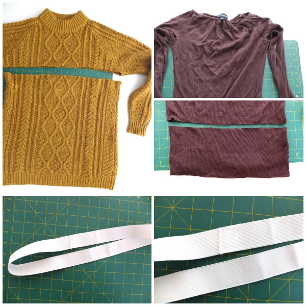 Cable knit skirt steps cutting
