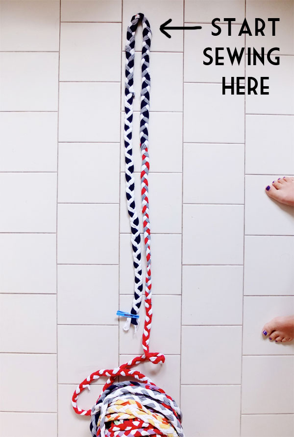 make a braided rug instructions