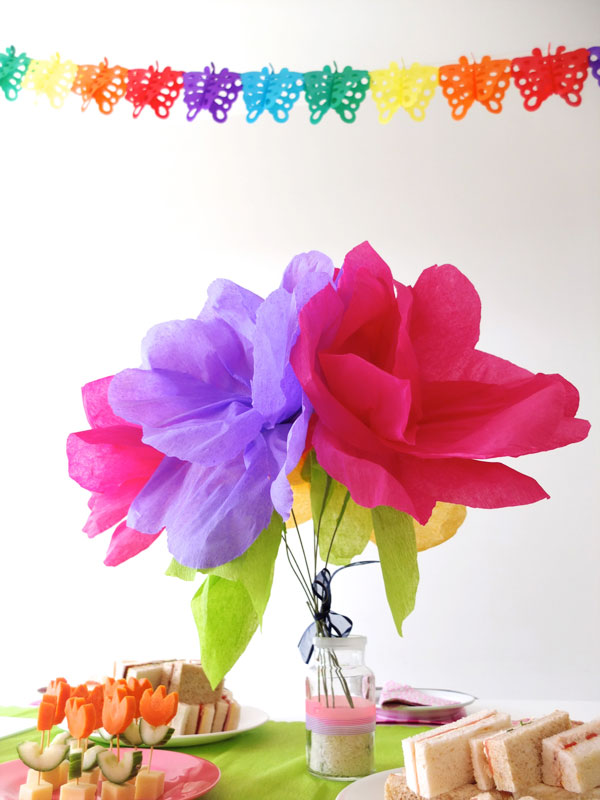 Big crepe paper flowers