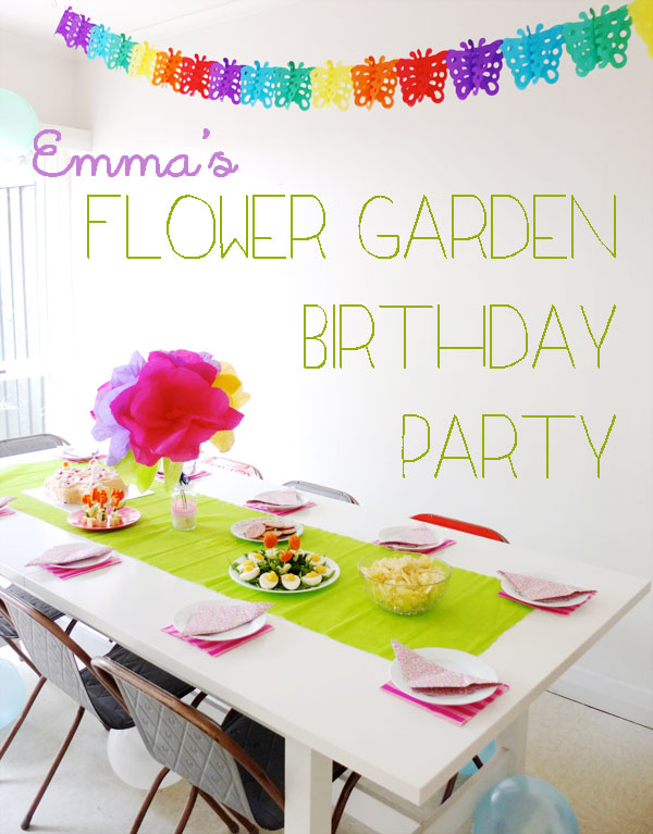 Flower Garden Birthday Party Theme mypoppet.com.au