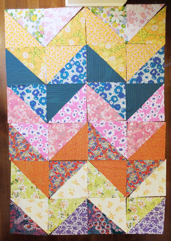 chevron patchwork layout
