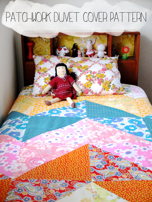 How To Patchwork Duvet Cover My Poppet Makes