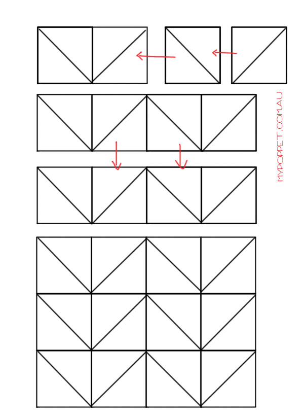 Joining quilt blocks