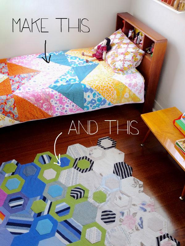 Make duvet cover and rug  for kids room