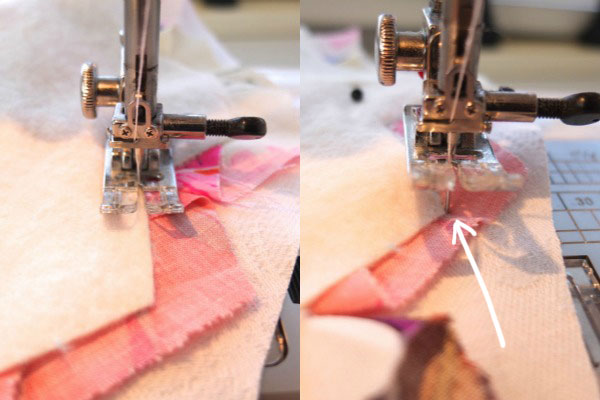 sewing step