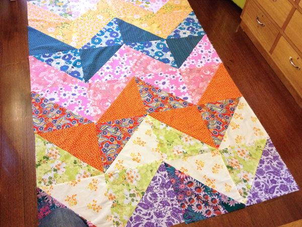 finished patchwork top chevron