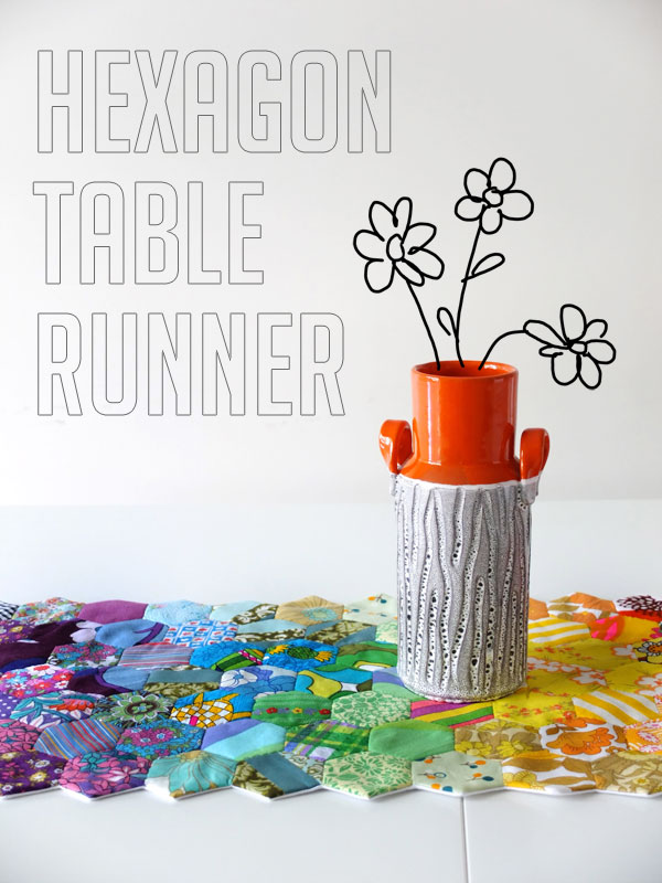 Rainbow Hexagon Table Runner tutorial