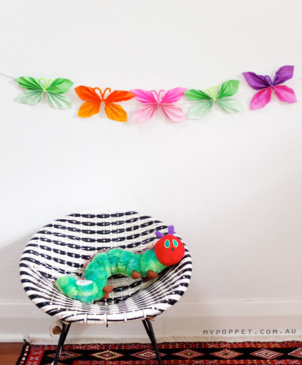 Butterfly garland and saucer chair
