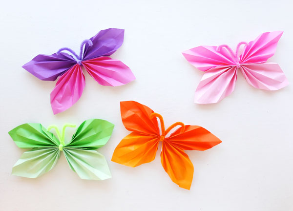 How To Paper Butterfly Garland My Poppet Makes
