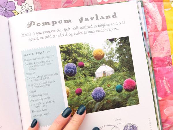 Pom Pom Garland Handmade Glamping