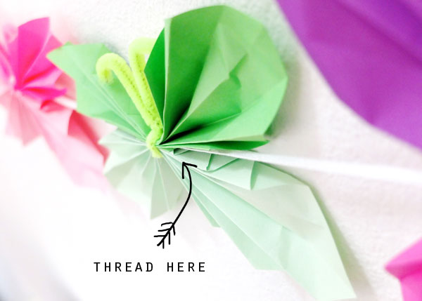 how to thread butterfly garland