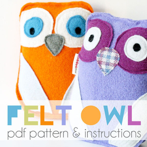 Felt owl toy PDF pattern