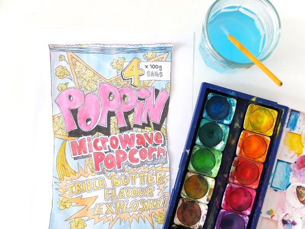 Popcorn Dawn Tan for The Lucky Draw Project