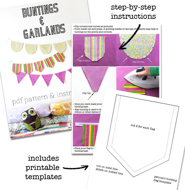 Make bunting pattern inside look