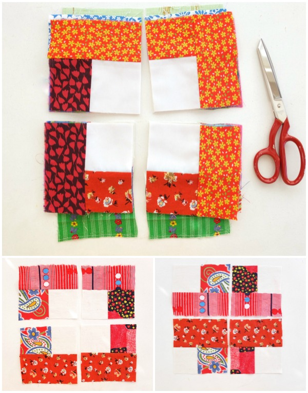 cut squares for quilt block