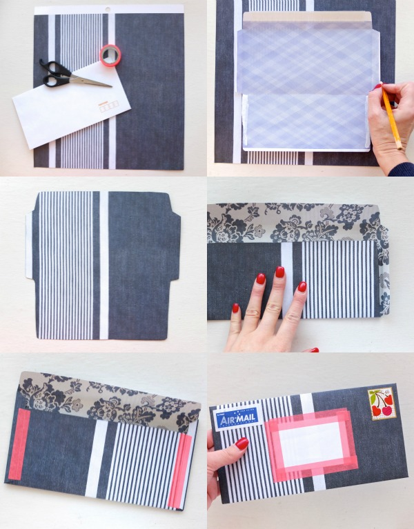 make your own envelope step-by-step