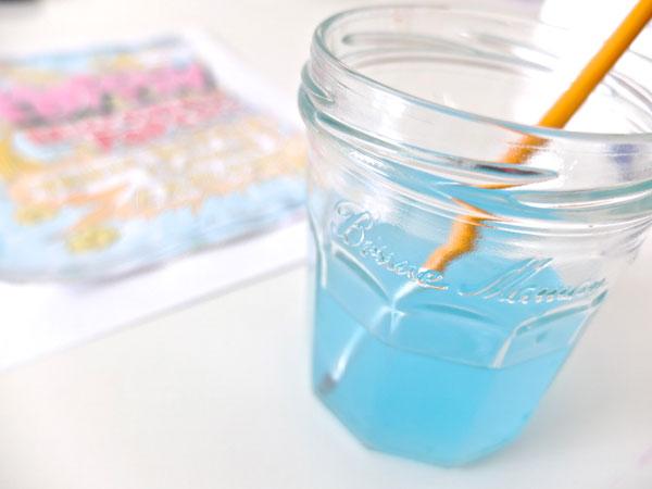 mason jar, paint water