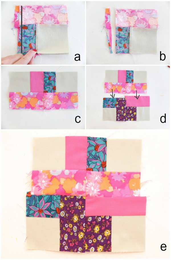sewing block steps