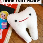 Felt tooth pillow pattern DIY
