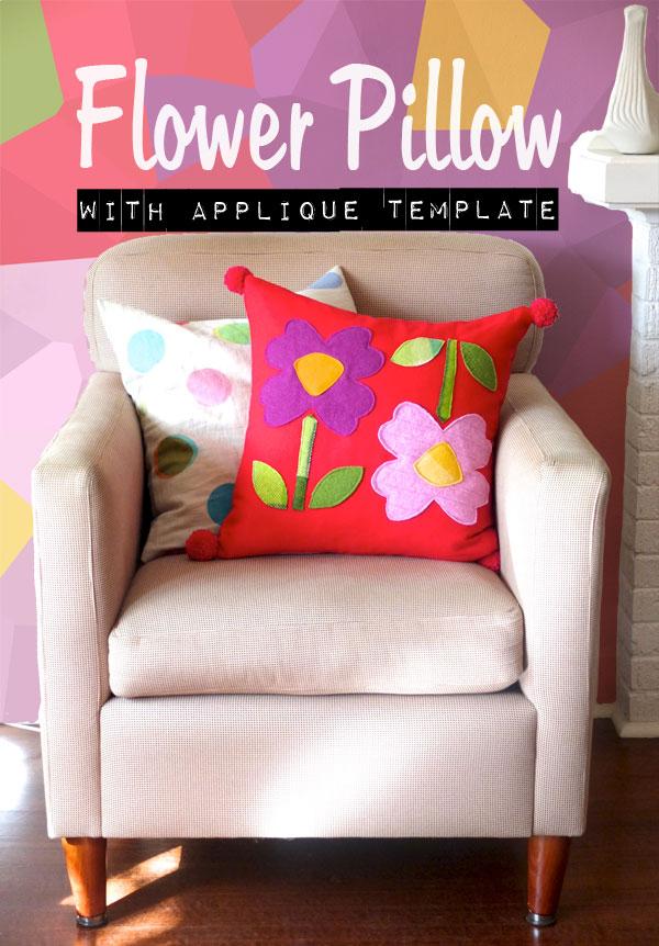 Flower Pillow Cover DIY mypoppet.com.au