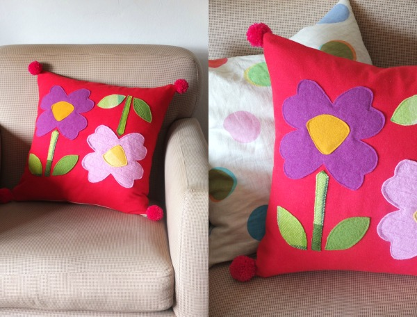 How to: Flower applique pillow tutorial with free template
