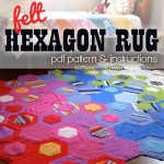 Hexagon rug pattern
