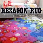 Hexagon rug pattern