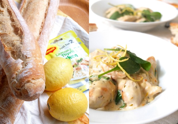 Maggi meal for 2 thyme and lemon chicken