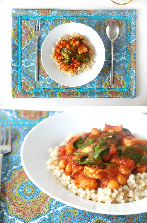 moroccan style placemat and chicken recipe