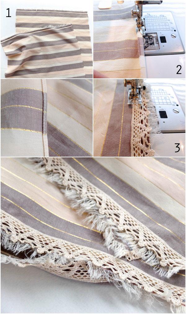 lacey scarf steps DIY mypoppet.com.au