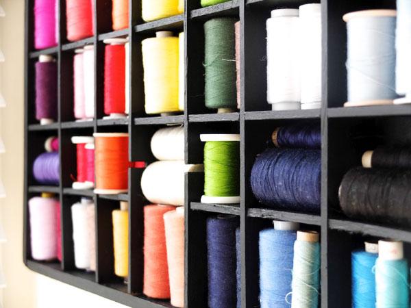 rainbow sewing threads