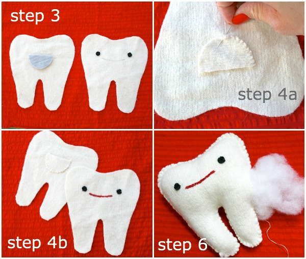 Make a tooth softie steps
