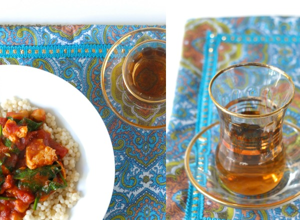 moroccan chicken and mint tea