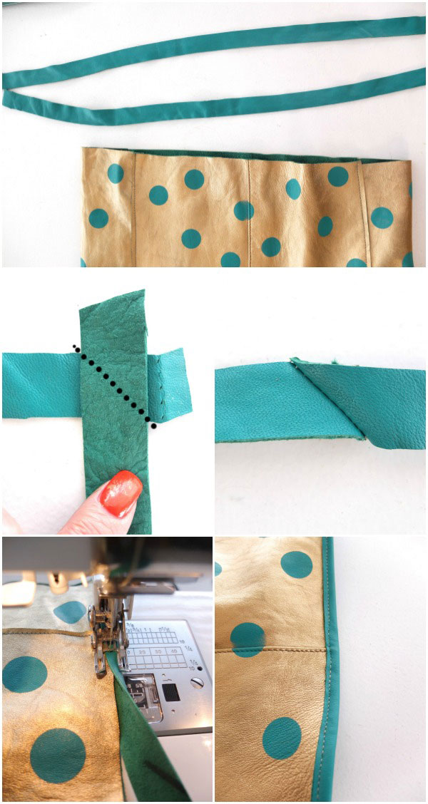 How to sew on leather binding