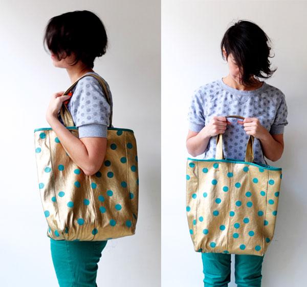 Mypoppet.com.au gold tote bag DIY