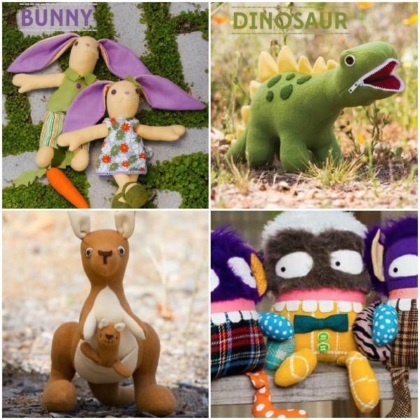 stuffed animal book Collage