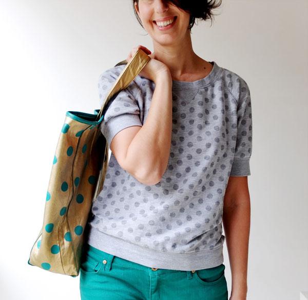 Mypoppet.com.au gold leather tote bag DIY